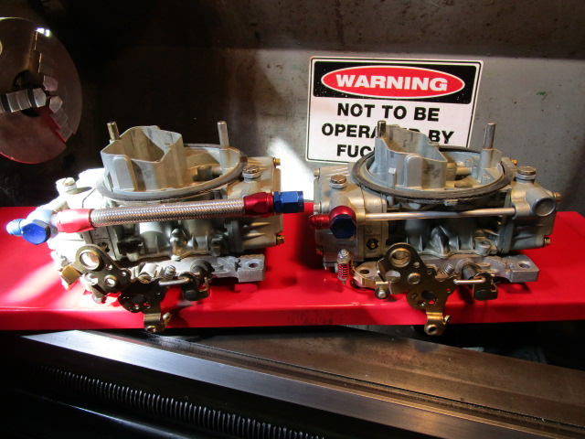 Tunnel Ram 450cfm carburettors.