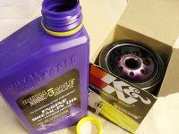 Royal Purple engine oil and a K&N oil filter