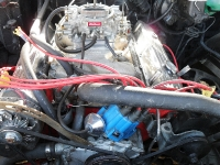 Before shot of 455 in Buick Riviera