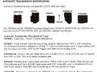 GM Automatic transmission ID