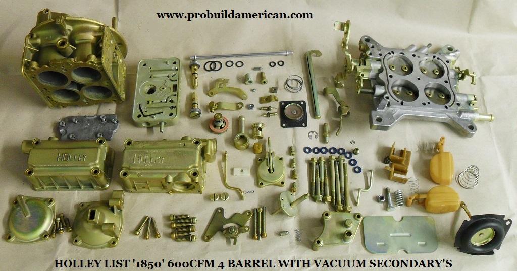 Holley List 1850 600cfm 4 Barrel Carburettor Vacuum