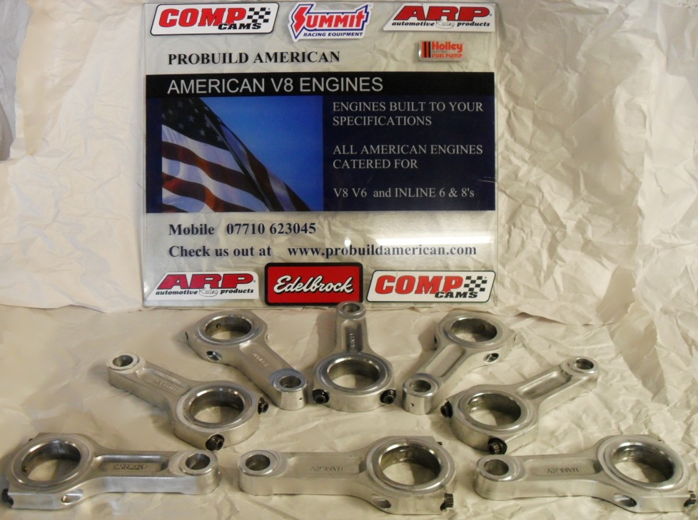 CONRODS, STOCK GM, PM RODS, SCAT, SUPEROD, MANLEY, CHEVROLET