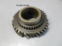 1st gear, horsepower+torque+slicks = need new 1st gear and cluster gears.