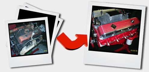Engine rebuild classic american cars