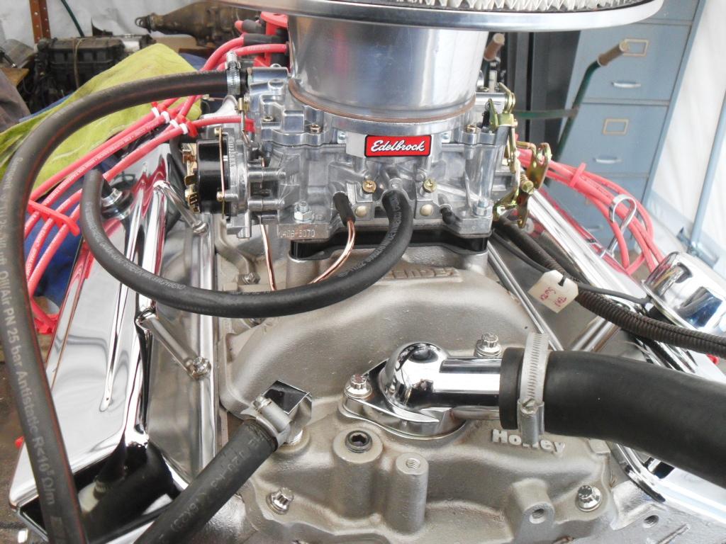 350 SMALL BLOCK CHEVROLET, REBUILT CARB TO PAN TURNKEY MOTOR